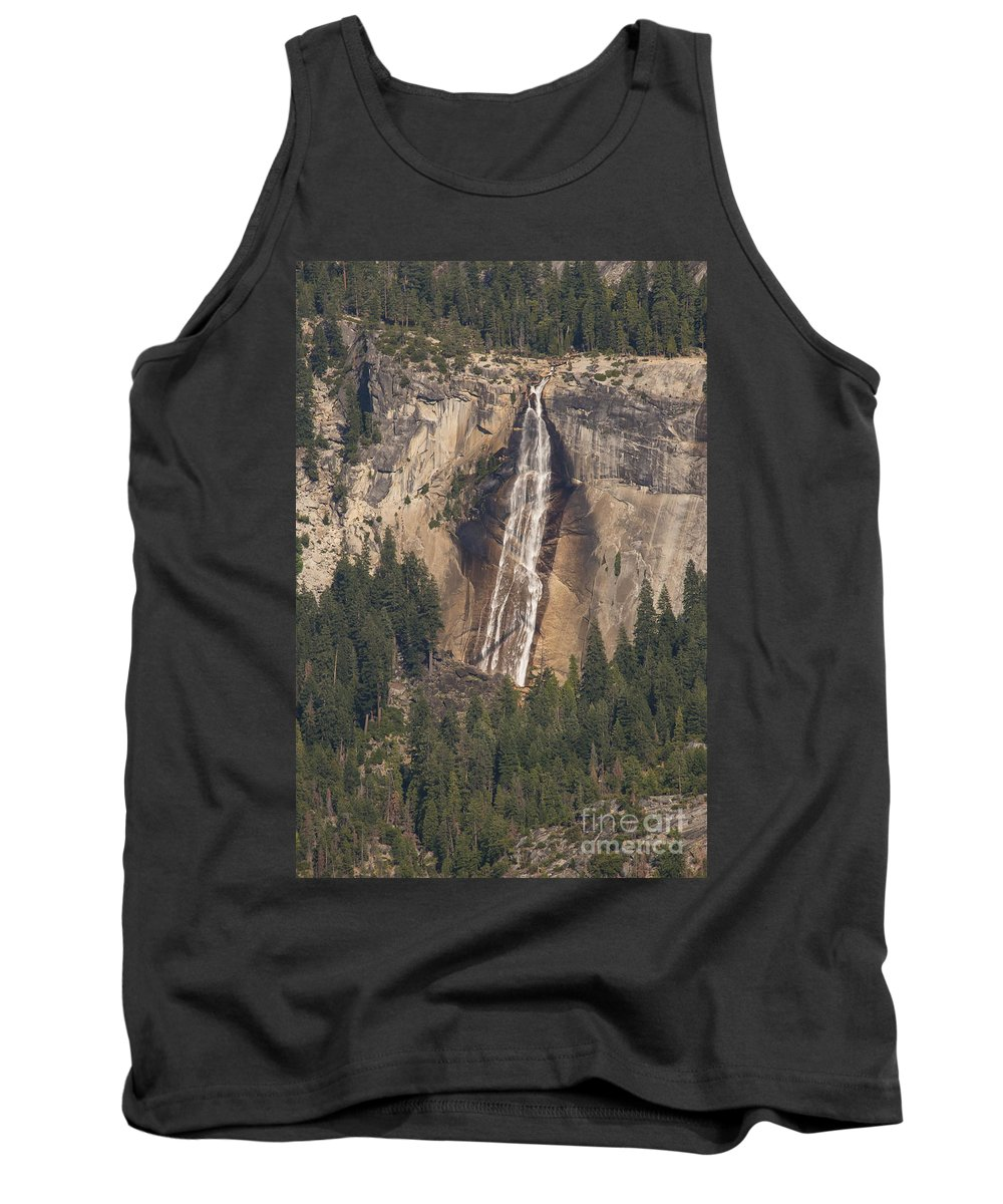 Nevads Falls Waterfall Waterfalls Tree Trees Yosemite National Park California Parks Landscape Landscapes Rock Rocks Stone Stones Water Forest Forests Tank Top featuring the photograph Yosemite Nevada Falls by Bob Phillips