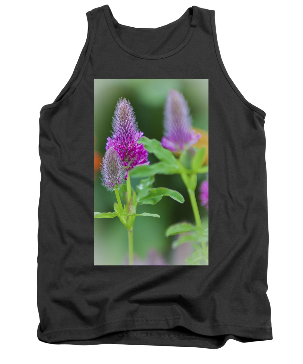 Plant Tank Top featuring the photograph Young Delphinium by Maj Seda