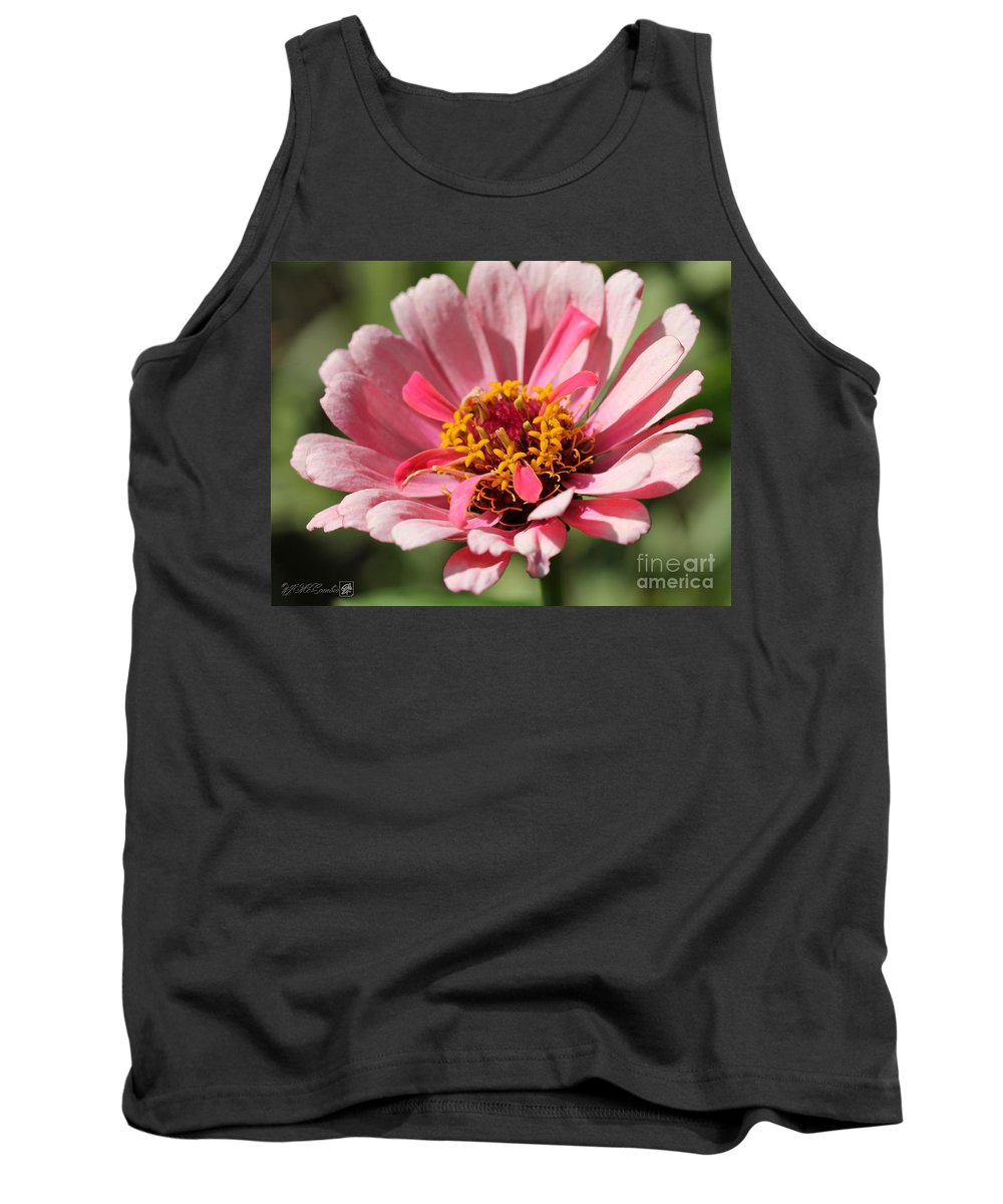 Mccombie Tank Top featuring the photograph Zinnia From The Whirlygig Mix by J McCombie