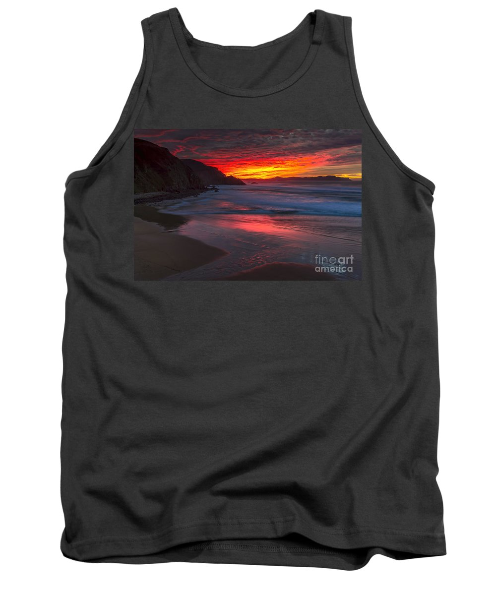 Campelo Tank Top featuring the photograph Campelo Beach Galicia Spain by Pablo Avanzini