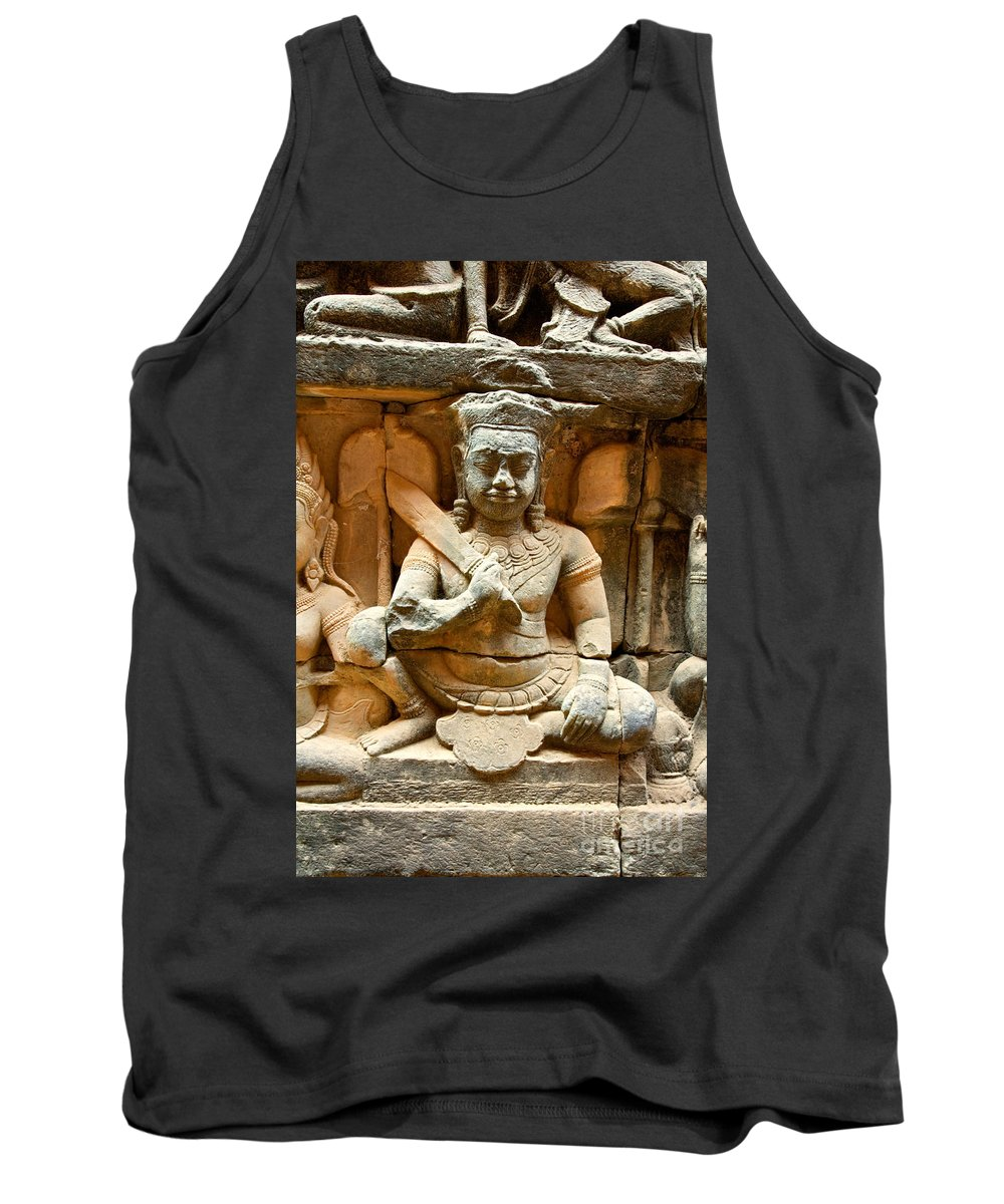 Religious Tank Top featuring the photograph Angkor Thom by David Davis