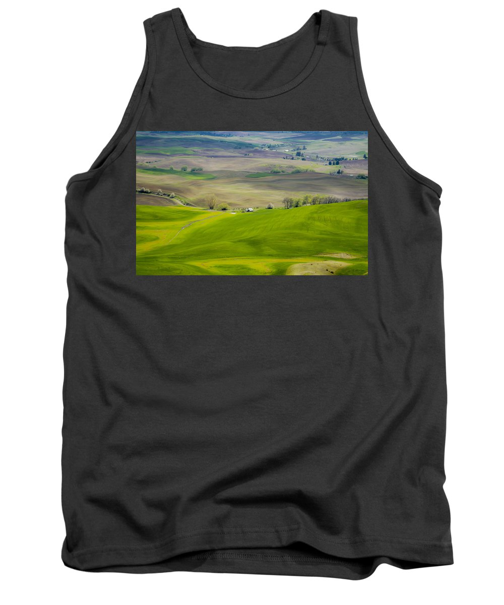 Washington Tank Top featuring the photograph 110517-112 The Palouse by Albert Seger