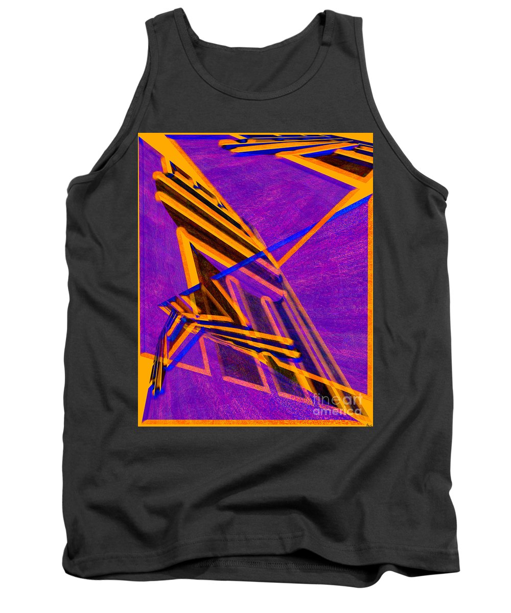 Abstract Tank Top featuring the digital art 1359 Abstract Thought by Chowdary V Arikatla