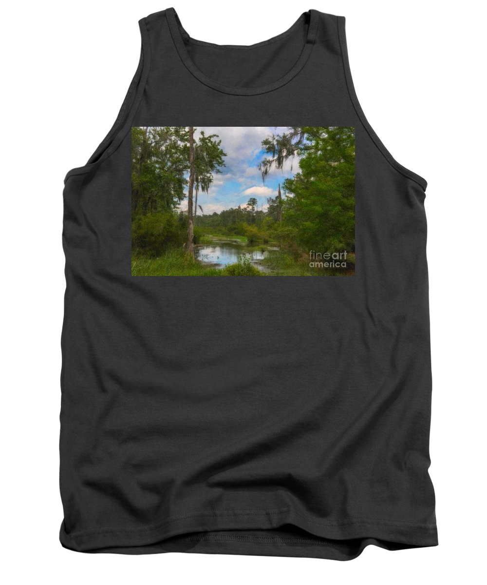Marsh Tank Top featuring the photograph Lowcountry Marsh by Dale Powell