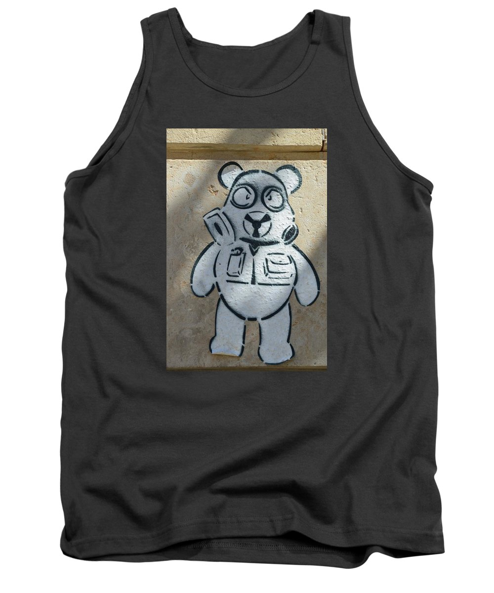 Textured Tank Top featuring the photograph Graffiti by FL collection
