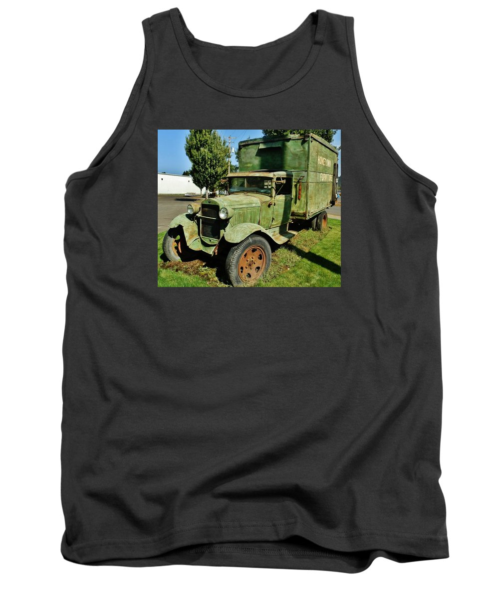 1920's (but Tank Top featuring the photograph 1920s Ford Moving Truck by VLee Watson