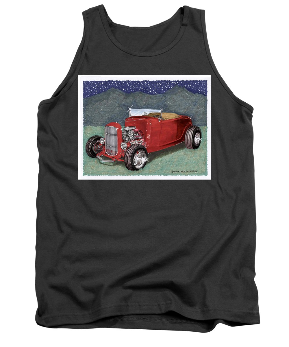 Classic Car Art Tank Top featuring the painting 1932 Ford High Boy by Jack Pumphrey