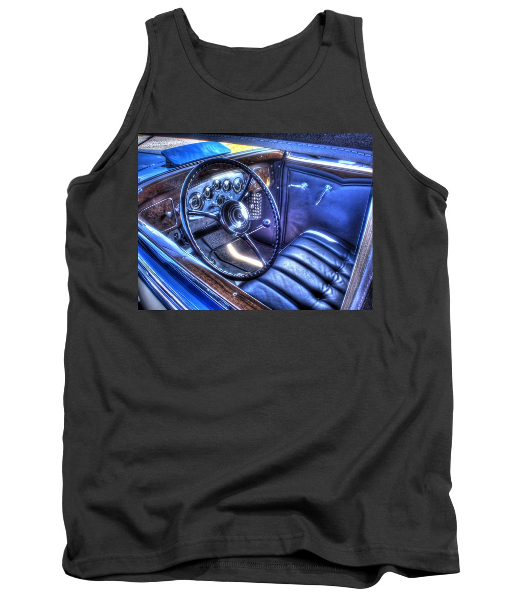 1932 Tank Top featuring the photograph 1932 Packard V12 Convertible Coupe-roadster V2 by John Straton
