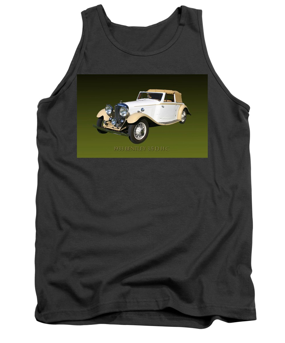 Photography Of 1933 Bentley Dhc By Jack Pumphrey Taken At The 2010 Santa Fe Concorso Tank Top featuring the photograph 1933 Bentley 3 5 Liter Drop Head Coupe by Jack Pumphrey