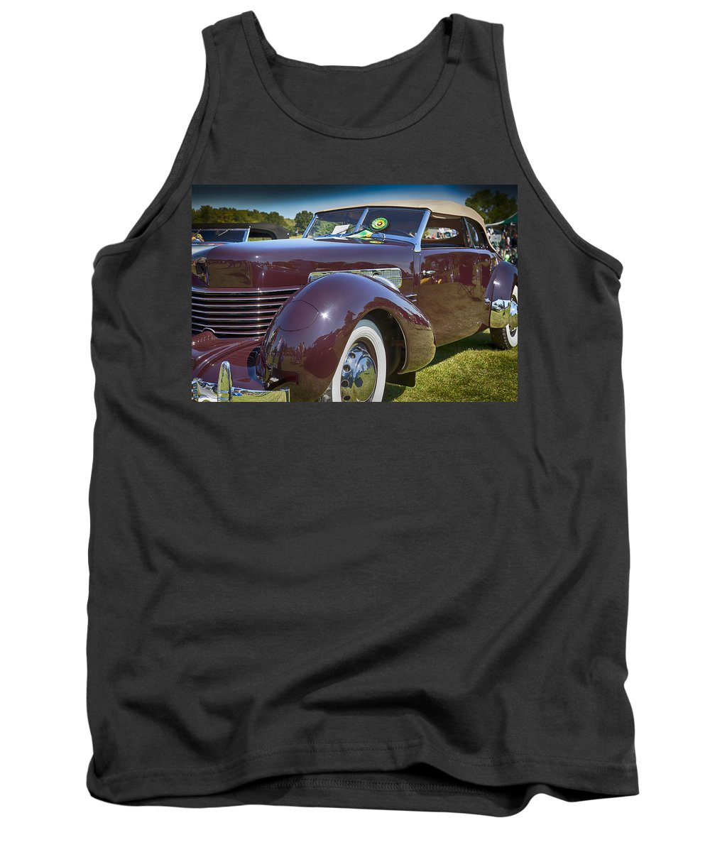 1937 Tank Top featuring the photograph 1937 Cord Phaeton by Jack R Perry