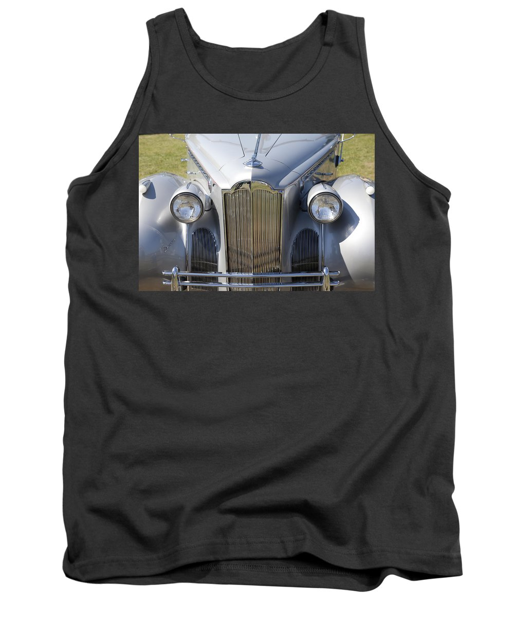 1940 Tank Top featuring the photograph 1940 Packard One-sixty by Jack R Perry
