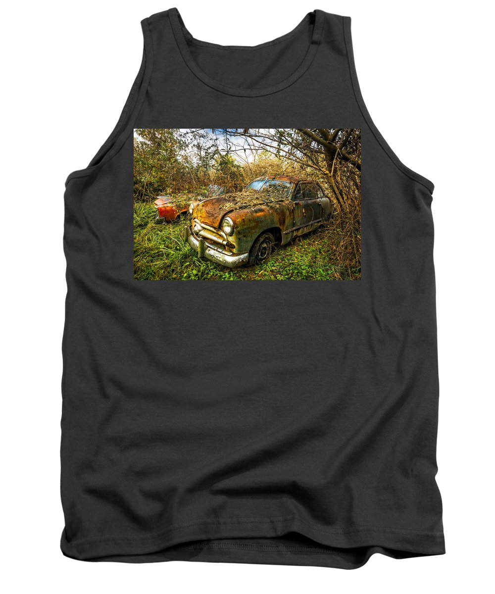1940s Tank Top featuring the photograph 1949 Ford by Debra and Dave Vanderlaan