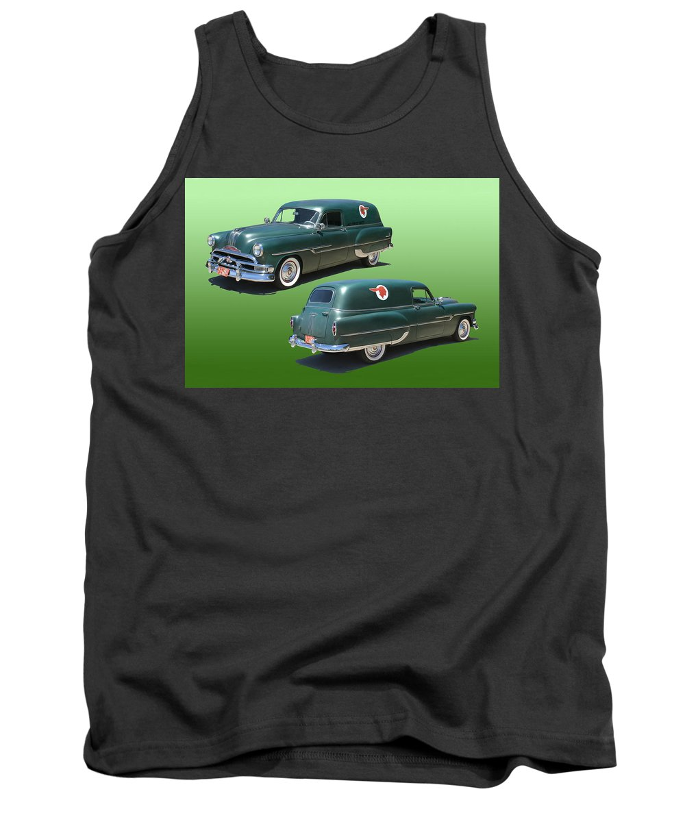 1953 Pontiac Panel Delivery Tank Top featuring the photograph 1953 Pontiac Panel Delivery by Jack Pumphrey