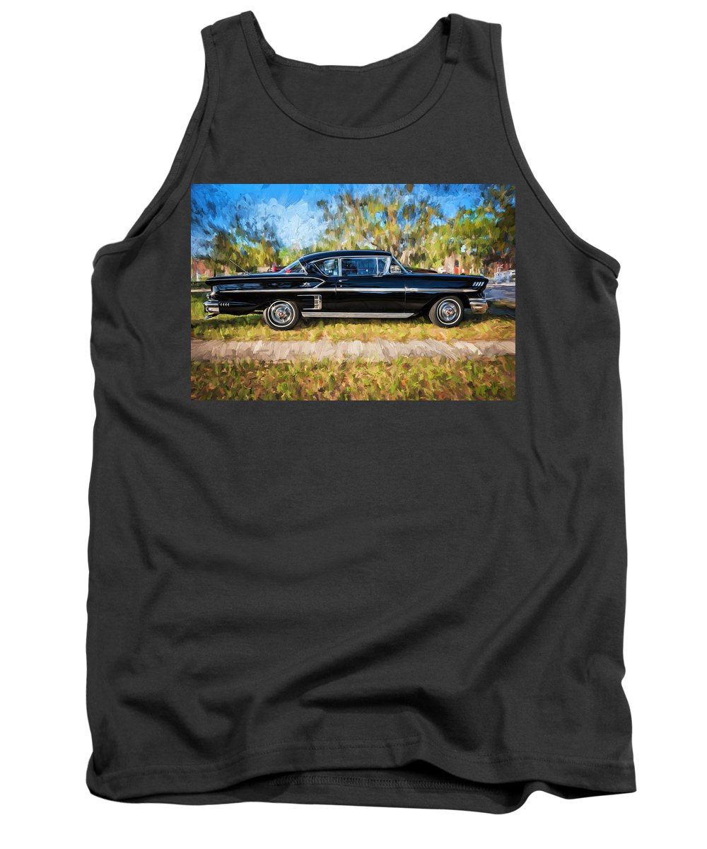 1958 Chevrolet Tank Top featuring the photograph 1958 Chevrolet Bel Air Impala Painted   by Rich Franco