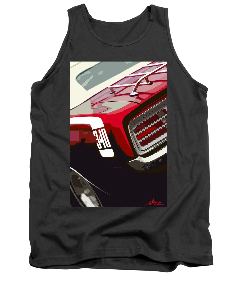 Red Tank Top featuring the photograph 1970 Plymouth Barracuda 'cuda 340 by Gordon Dean II