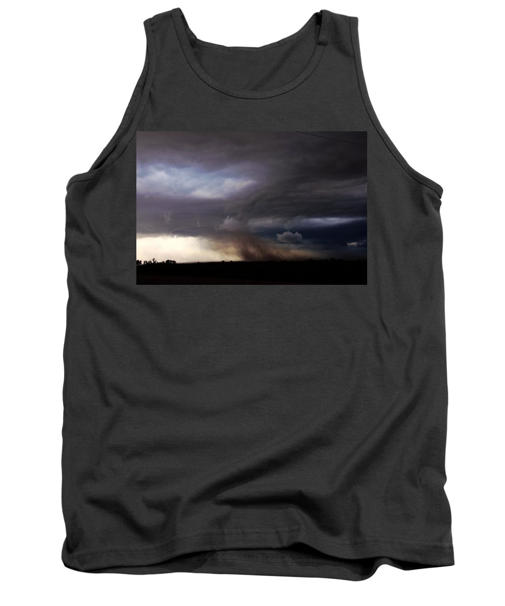 Stormscape Tank Top featuring the photograph 052913 - Severe Storms Over South Central Nebraska by NebraskaSC