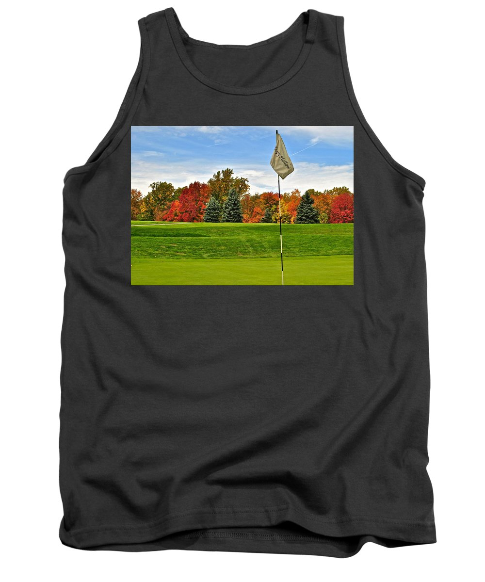 Autumn Tank Top featuring the photograph Autumn Golf by Frozen in Time Fine Art Photography