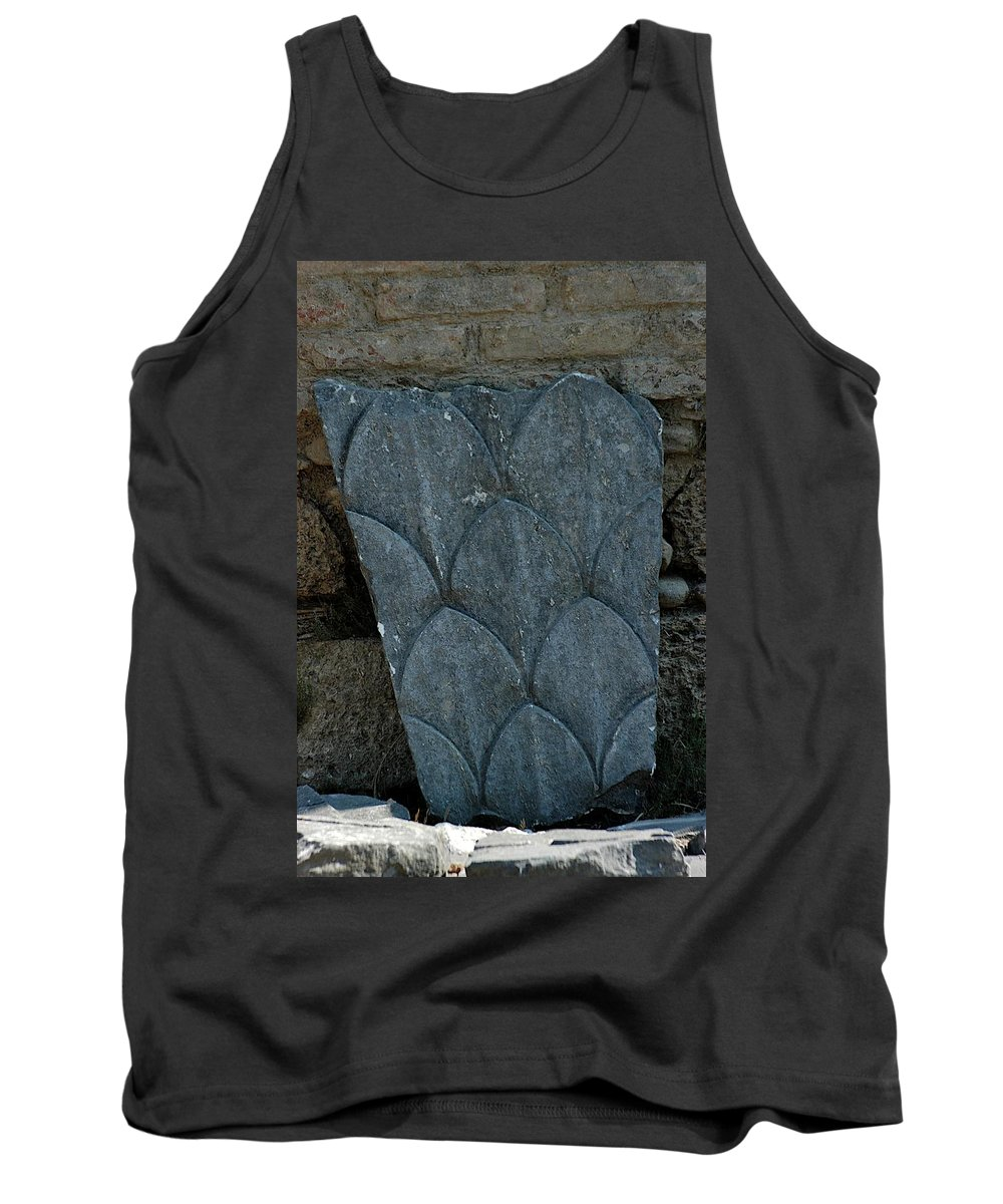 Carved Stone Tank Top featuring the photograph Blue by Joseph Yarbrough