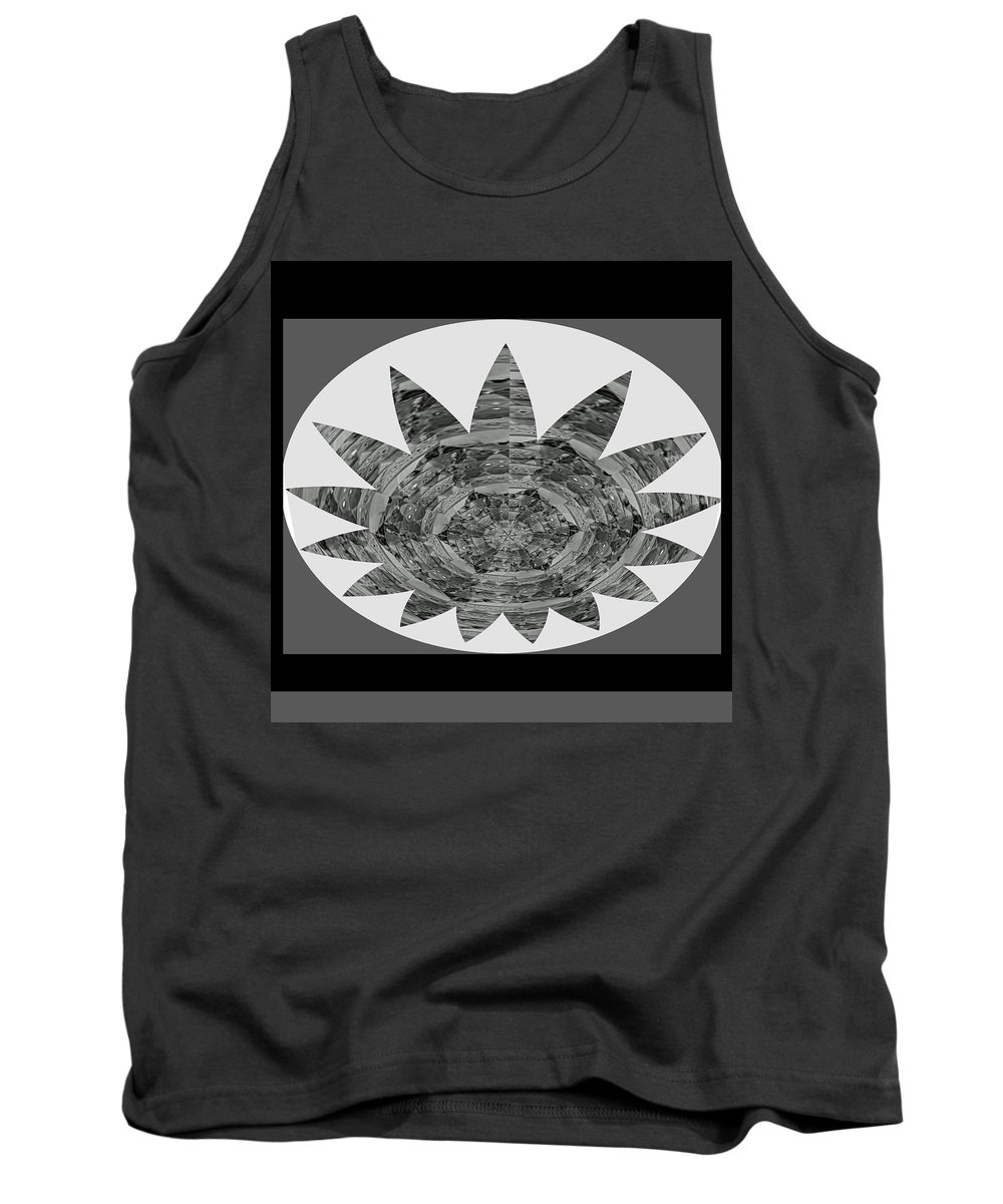 Starblack And White Tank Top featuring the painting Bnw Black N White Star Ufo Art Sprinkled Crystal Stone Graphic Decorations Navinjoshi Rights Manag by Navin Joshi