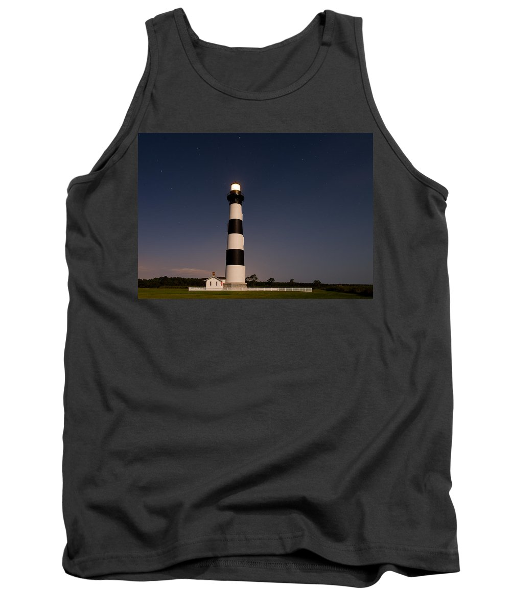 Super Moon Tank Top featuring the photograph Bodie Island Lighthouse by Stacy Abbott