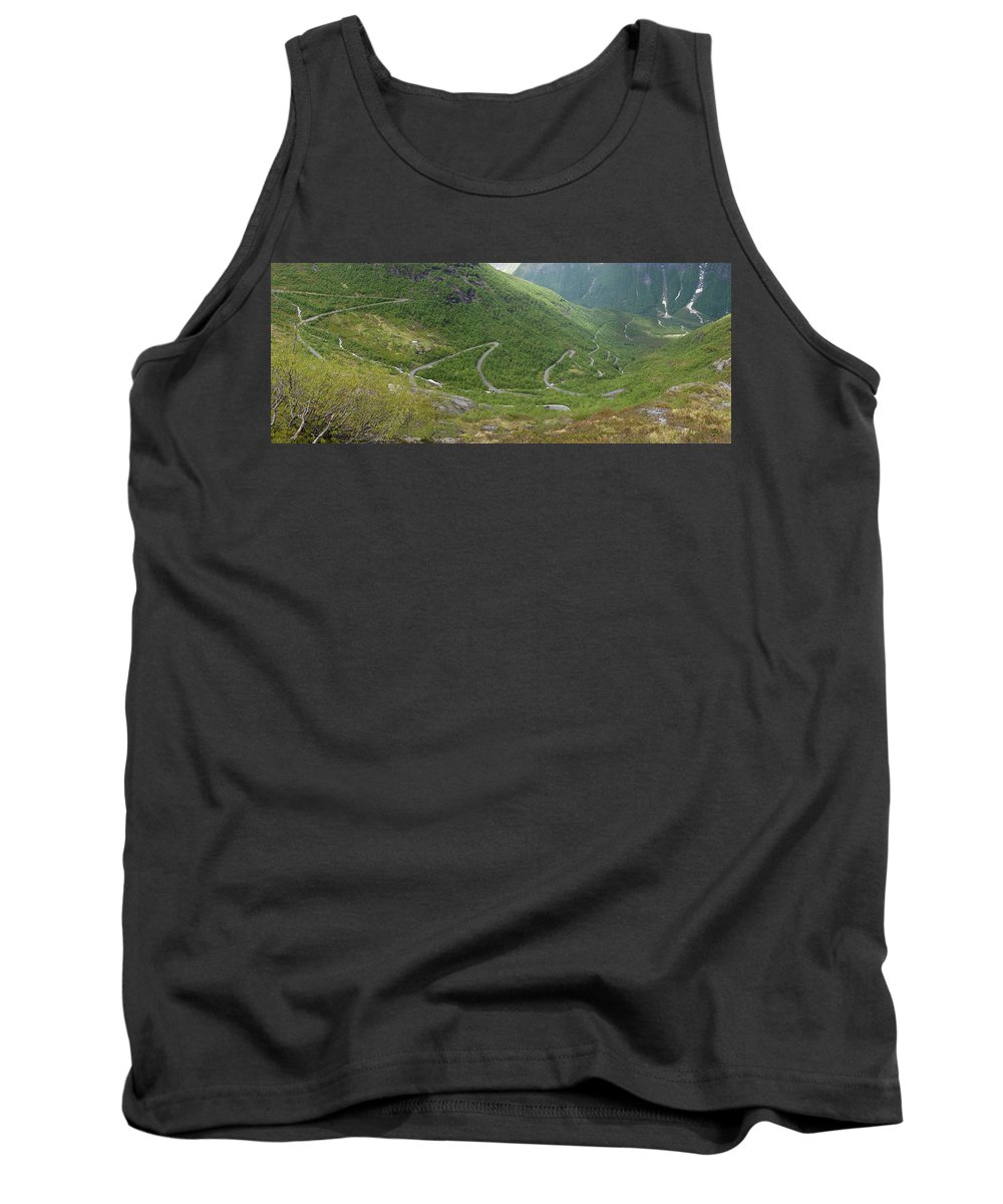 Panorama Tank Top featuring the photograph Gaularfjell Panorama by Benjamin Reed