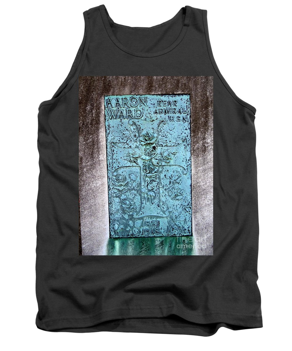 Headstone Tank Top featuring the photograph Headstone Abstract by Ed Weidman