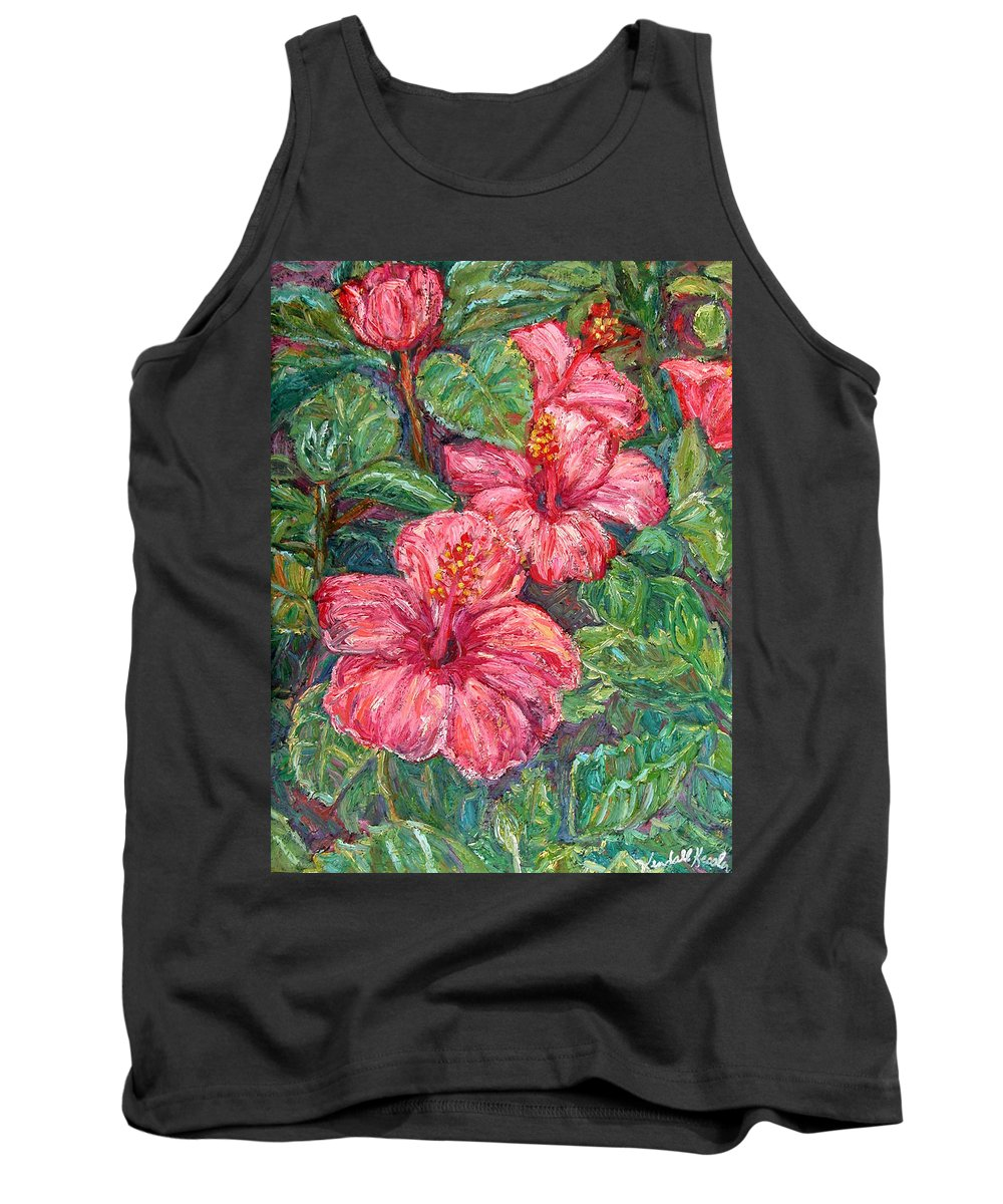 Hibiscus Tank Top featuring the painting Hibiscus by Kendall Kessler