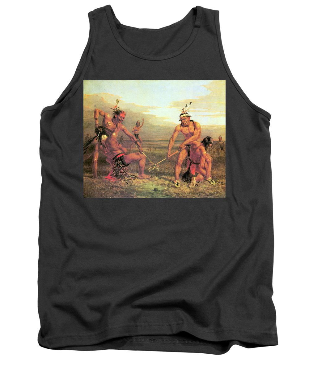 Indian Ball Game Tank Top featuring the photograph Indian Ball Game by Charles Deas