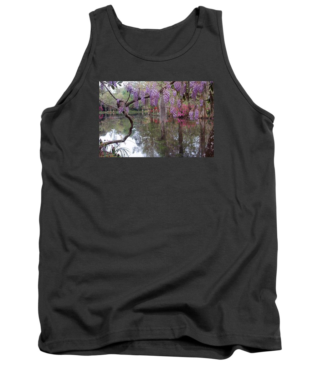 Wisteria Tank Top featuring the photograph Magnolia Plantation Gardens Series II by Suzanne Gaff