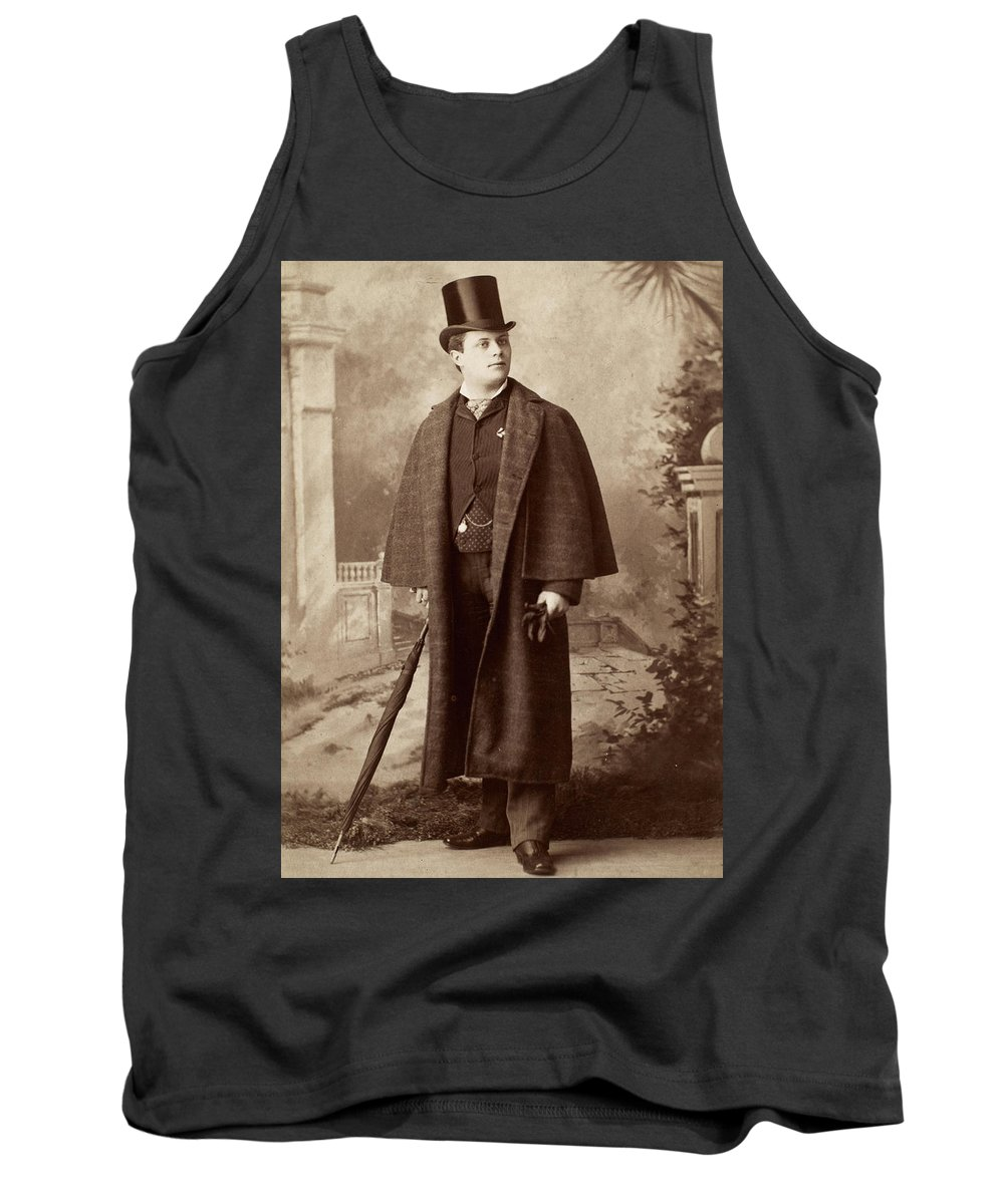 1885 Tank Top featuring the photograph Men's Fashion, C1885 by Granger