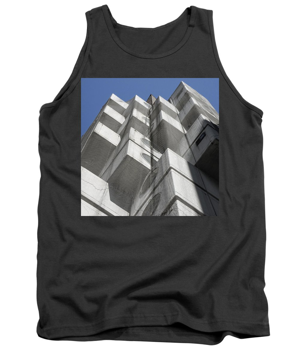 Street Photography Tokyo Tank Top featuring the photograph Nakagin Capsule Tower by For Ninety One Days