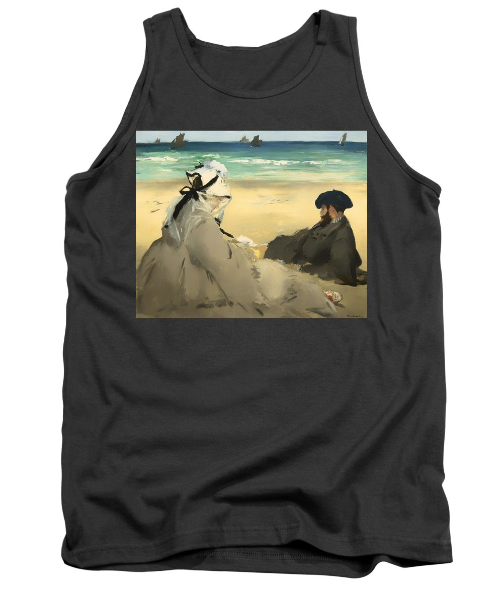 Painting Tank Top featuring the painting On The Beach by Mountain Dreams