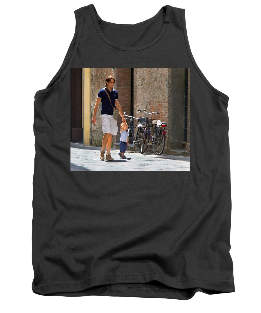 Alley Tank Top featuring the photograph Padre E Figlio by Keith Armstrong