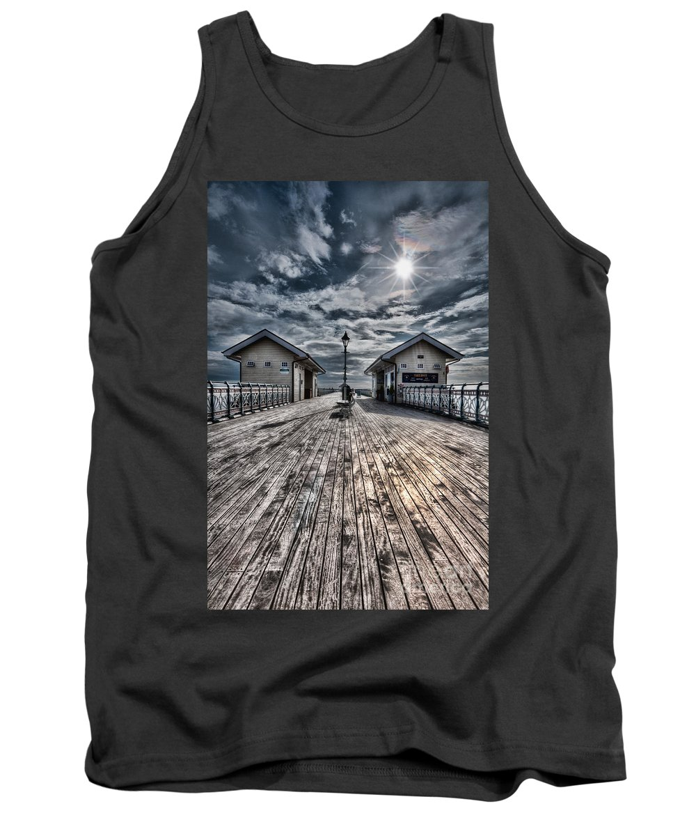 Penarth Pier Tank Top featuring the photograph Penarth Pier 2 by Steve Purnell