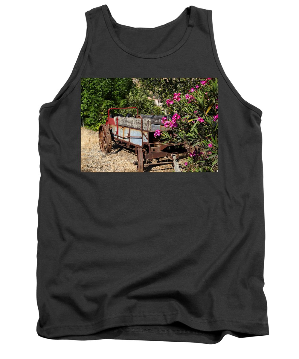 Ranch Wagon Cross Over Tank Top featuring the photograph Ranch Wagon Cross Over by Barbara Snyder