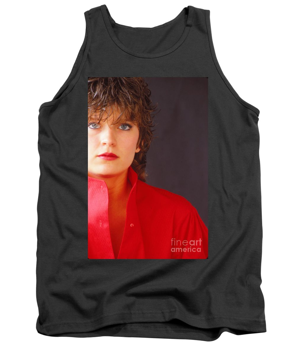 Red Shirt Tank Top featuring the photograph Red by Steven Macanka