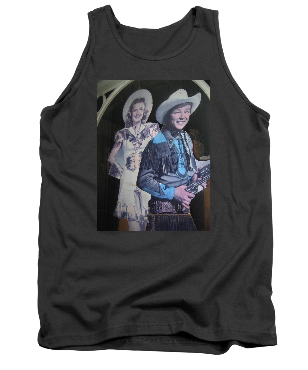 Roy Rogers And Dale Evans #2 Cut-outs Tombstone Arizona 2004 Tank Top featuring the photograph Roy Rogers And Dale Evans #2 Cut-outs Tombstone Arizona 2004 by David Lee Guss