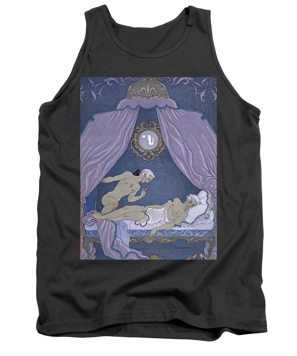 L'affaire Dangereuse Tank Top featuring the painting Scene From 'les Liaisons Dangereuses' by Georges Barbier