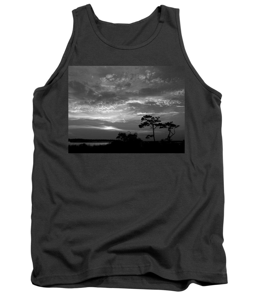 Sunset Tank Top featuring the photograph Sunset Over Colington Island On The Outer Banks Of North Carolina by Richard Rosenshein