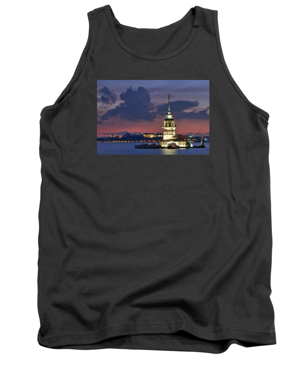 Tank Top featuring the photograph The Maiden's Tower by Ayhan Altun