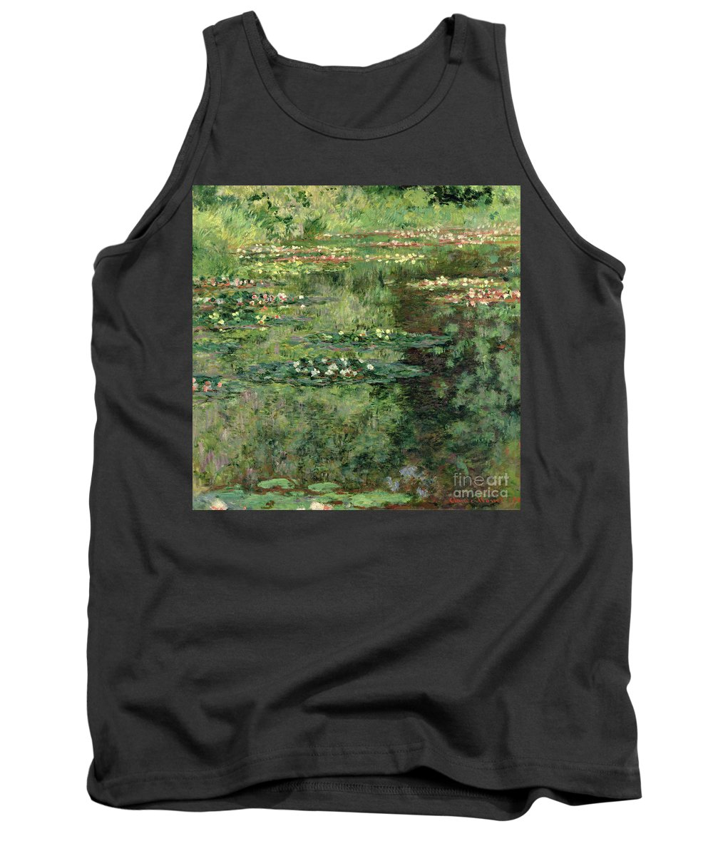 Etang Aux Nympheas Tank Top featuring the painting The Waterlily Pond by Claude Monet