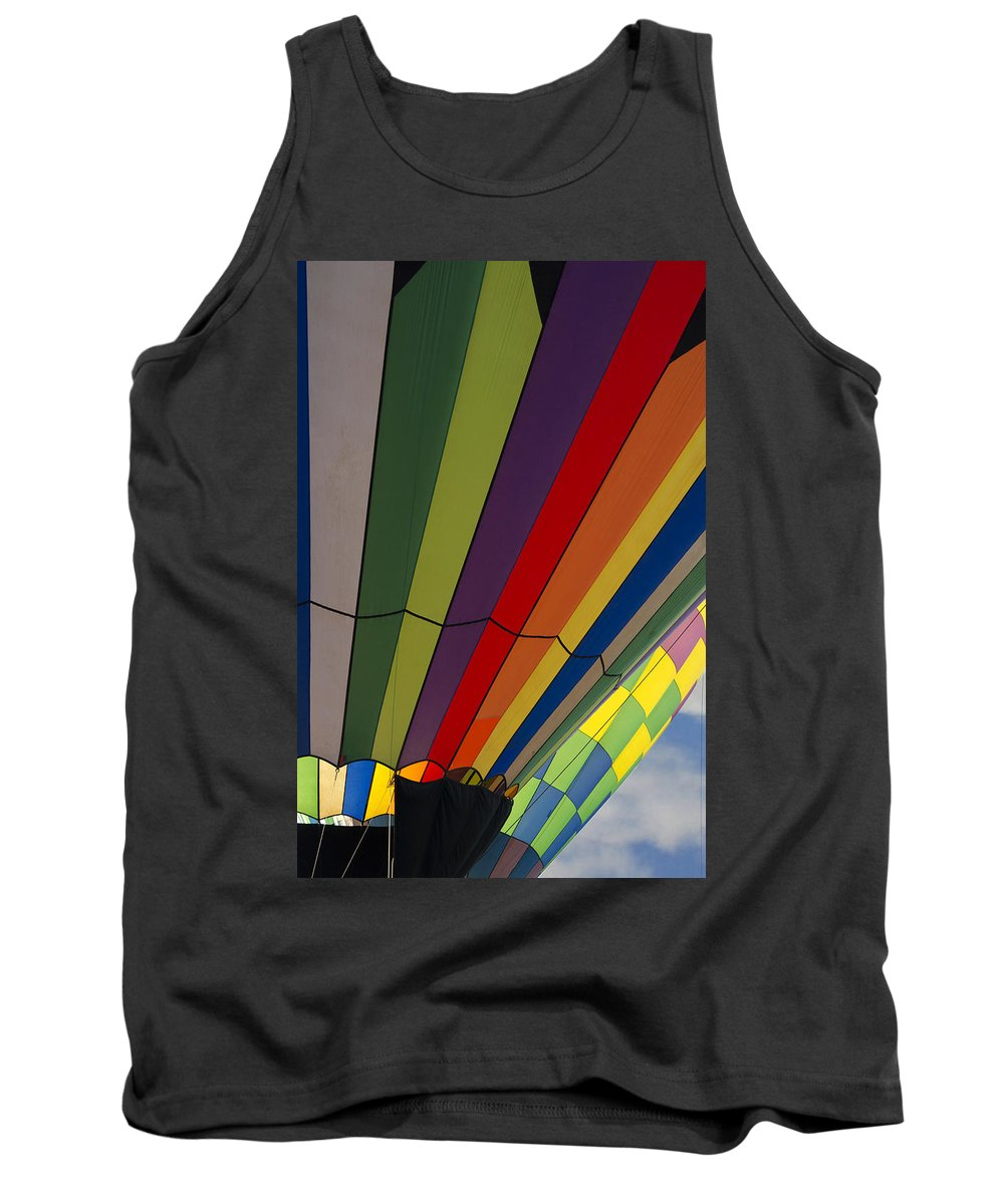 Hot Air Balloon Tank Top featuring the photograph Up Up And Away by Saija Lehtonen