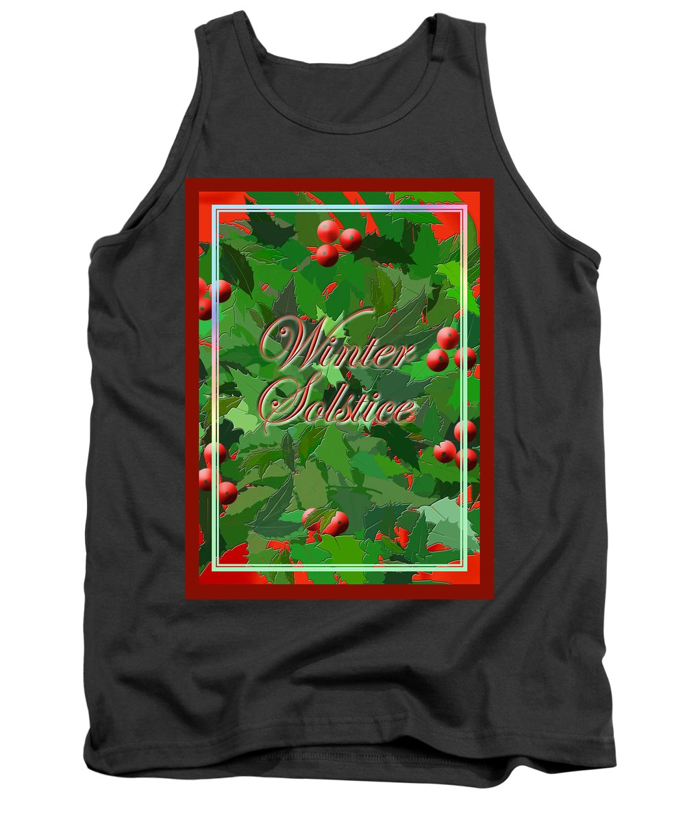 Wicca Tank Top featuring the digital art Winter Solstice by Melissa A Benson