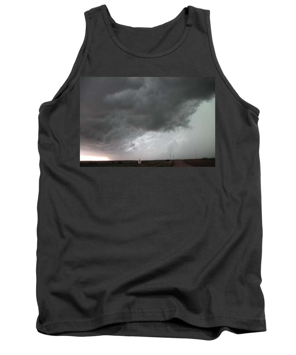 Stormscape Tank Top featuring the photograph Nebraska Panhandle Supercells by NebraskaSC