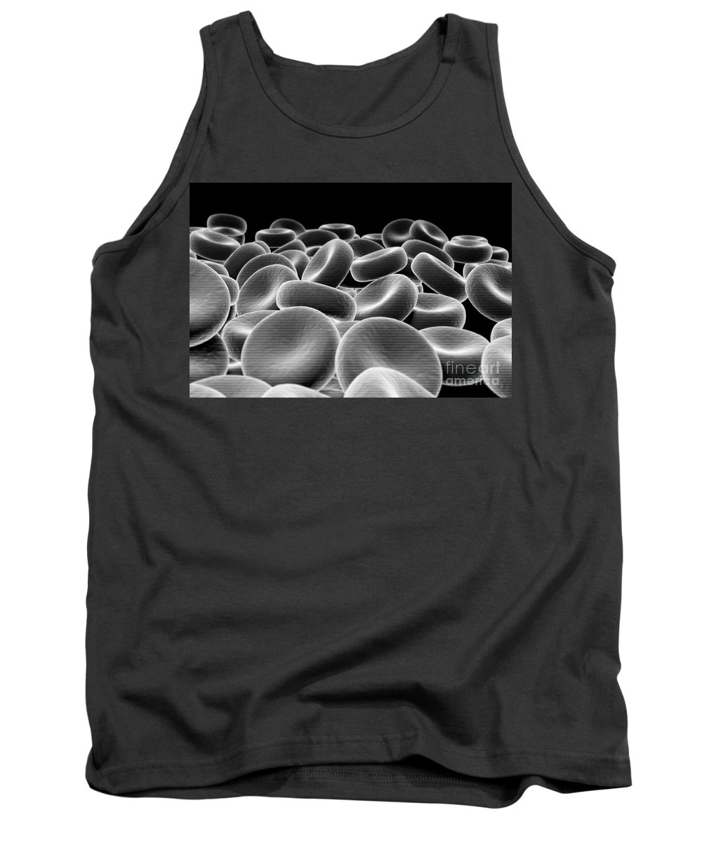 Erythrocytes Tank Top featuring the photograph Red Blood Cells by Science Picture Co