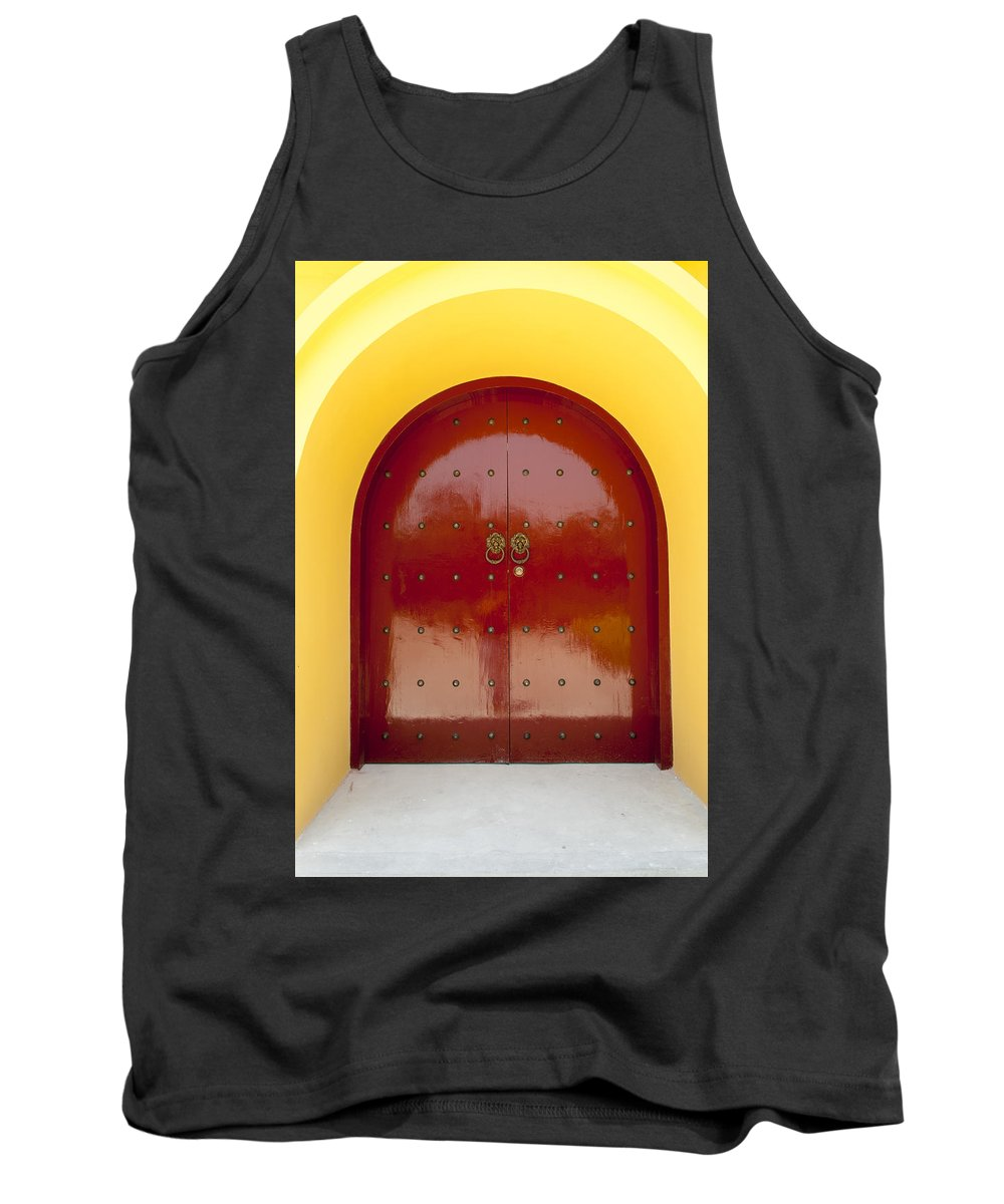 Asia Tank Top featuring the photograph 2631-door by David Lange