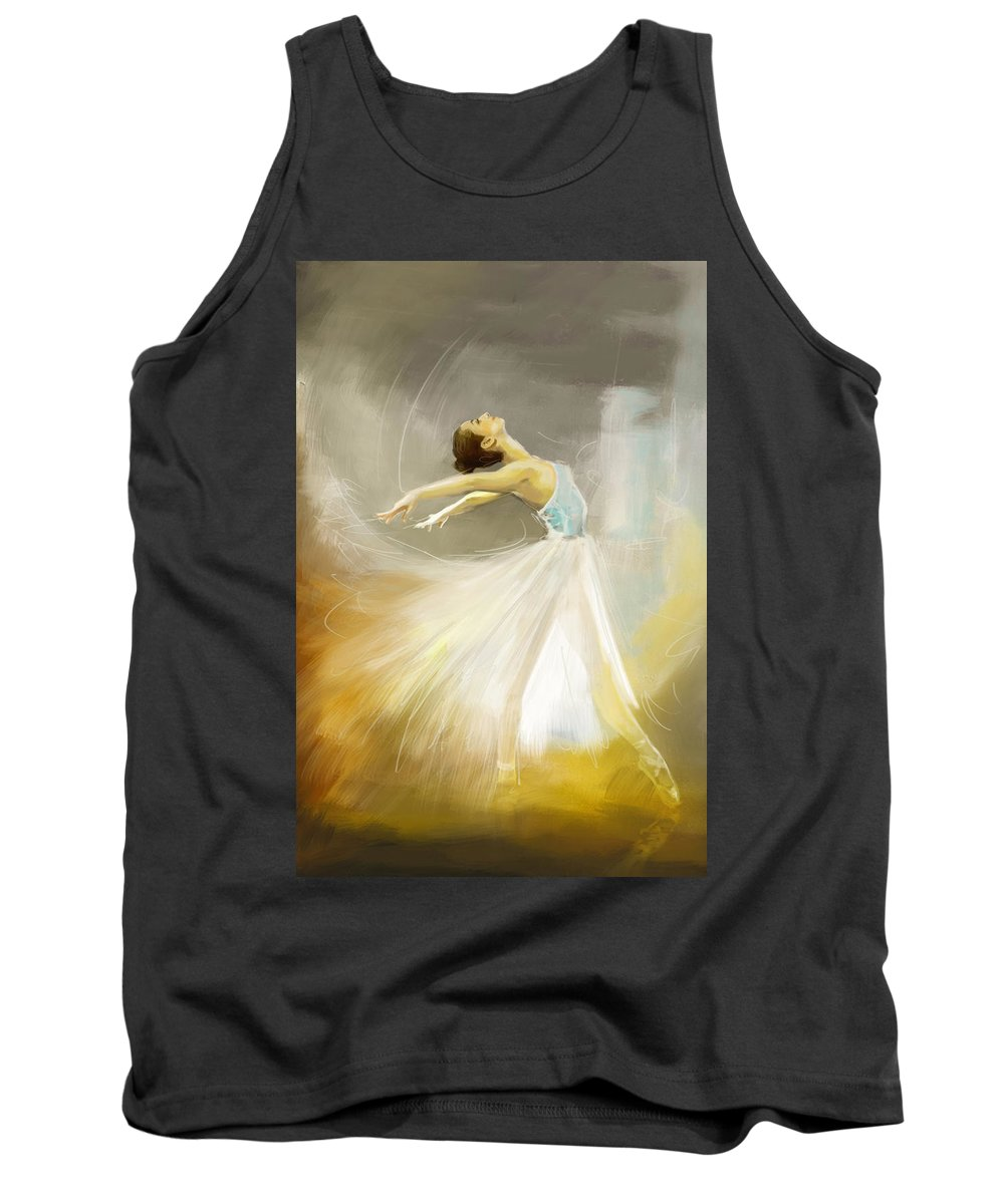 Catf Tank Top featuring the painting Ballerina by Corporate Art Task Force