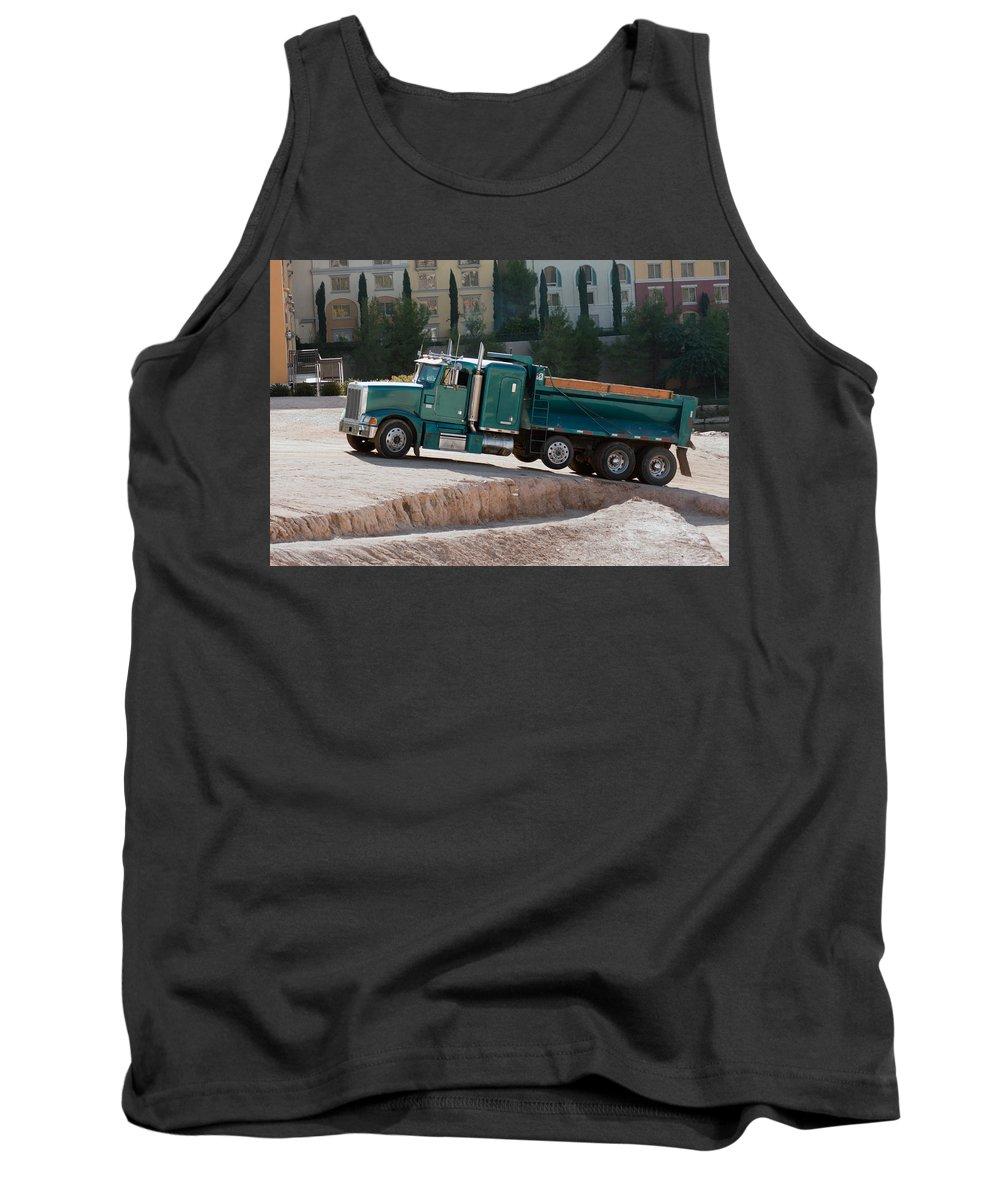 Auto Tank Top featuring the photograph Construction Truck by Gunter Nezhoda