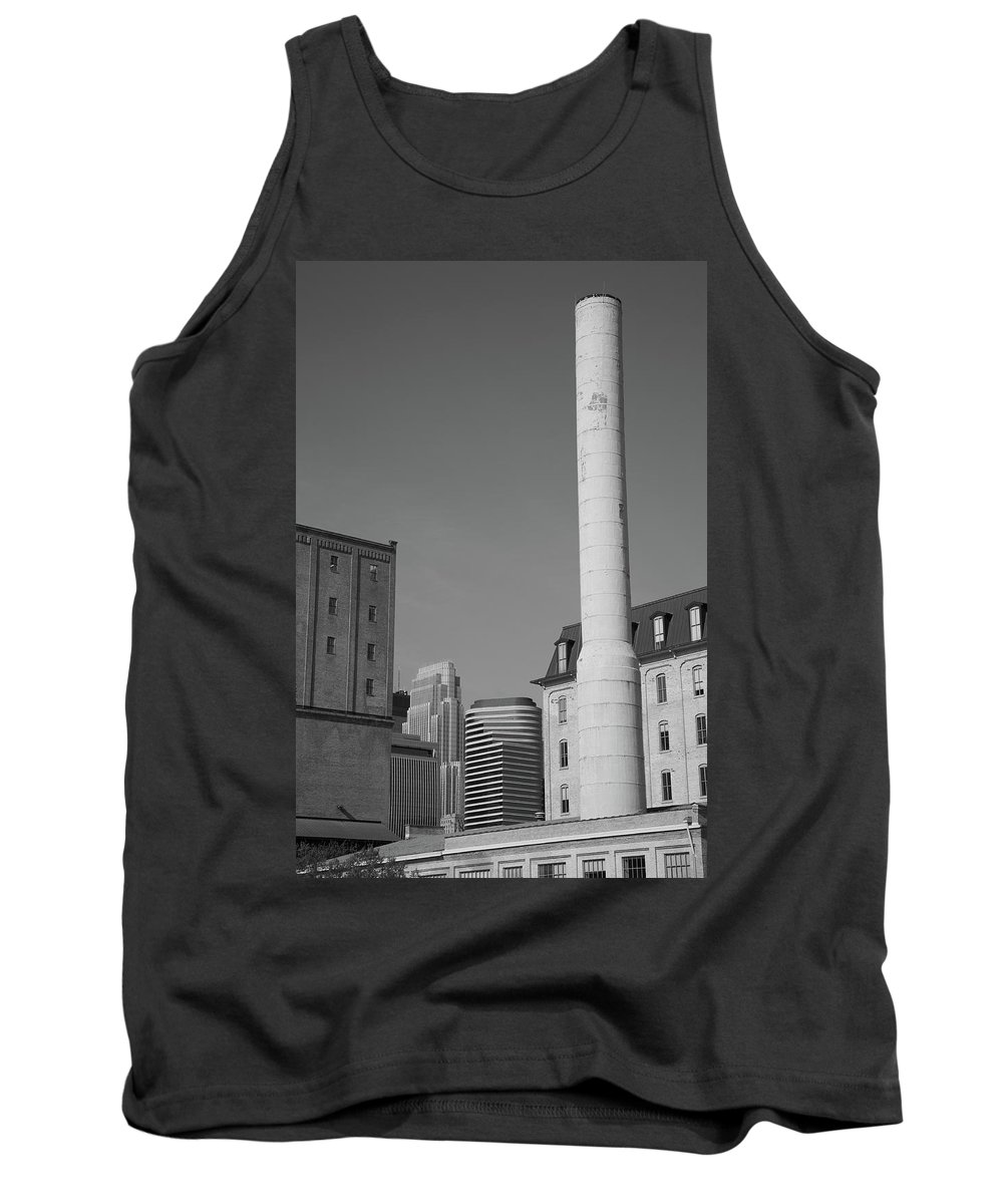 America Tank Top featuring the photograph Minneapolis Smokestack by Frank Romeo