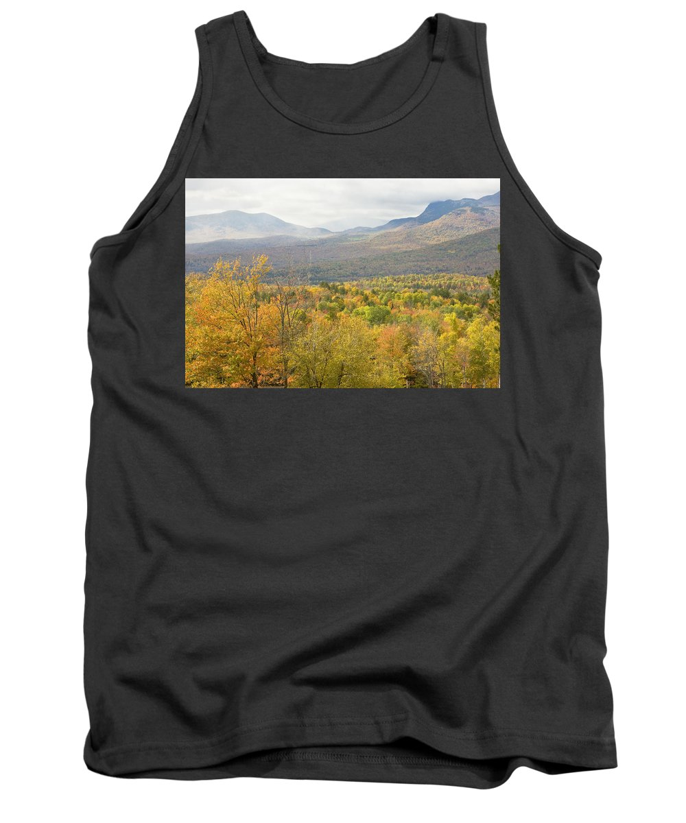 Maine Tank Top featuring the photograph Mountains In Fall Mount Blue State Park Weld Maine by Keith Webber Jr